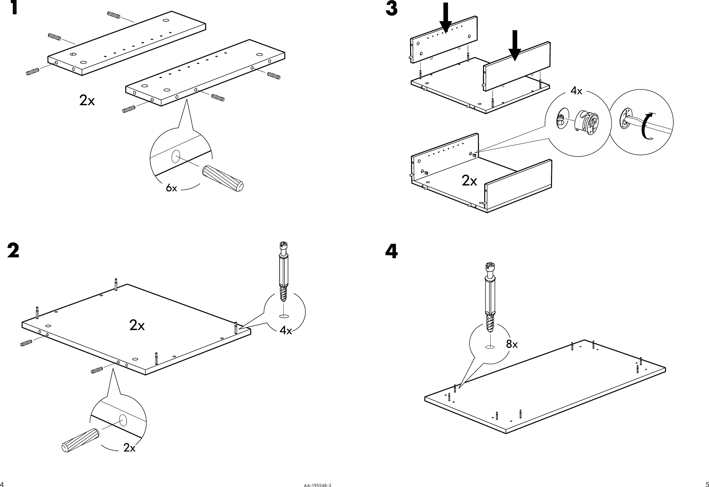 Ikea Benno Coffee Table 46 1 2X23 5 8 Assembly Instruction