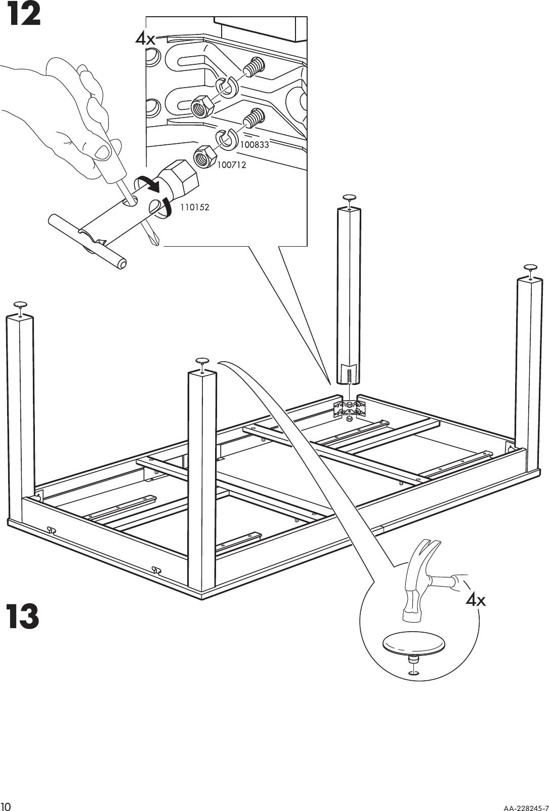 Ikea Bjursta Extendable Dining Table 69 86 102 X37