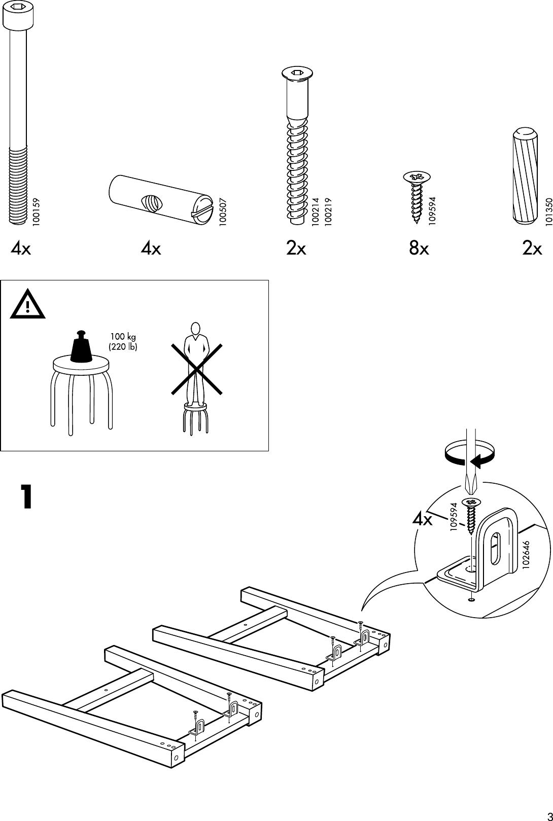 Ikea Bosse Stool Assembly Instruction