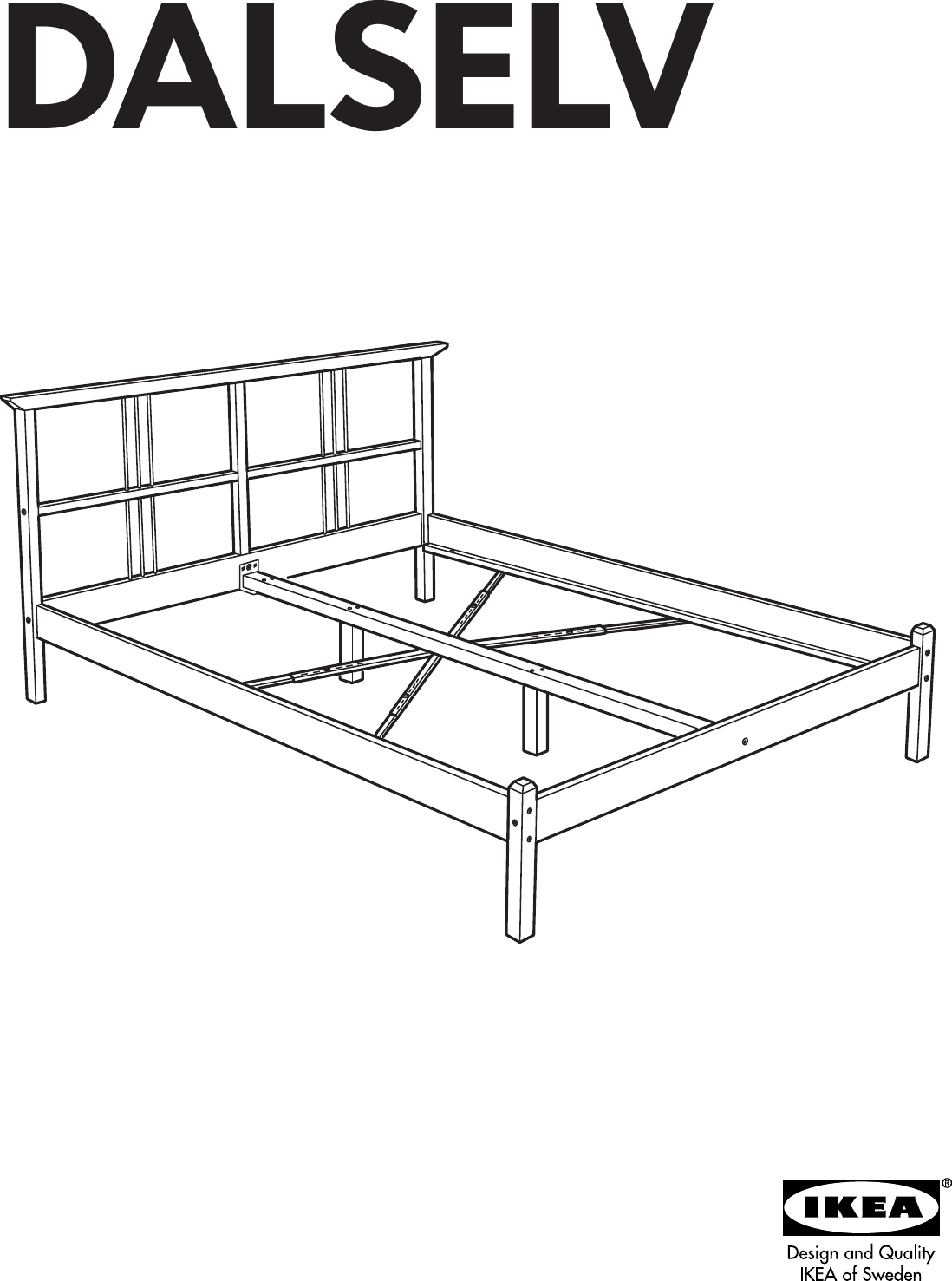 Ikea Dalselv Bed Frame Full Double Assembly Instruction