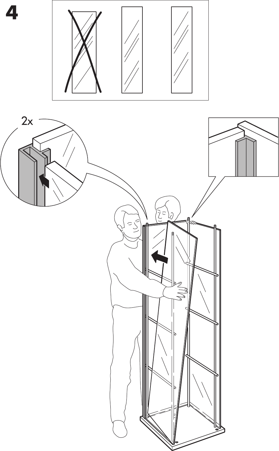 Ikea Detolf Glass Door Cabinet 17X64 Assembly Instruction