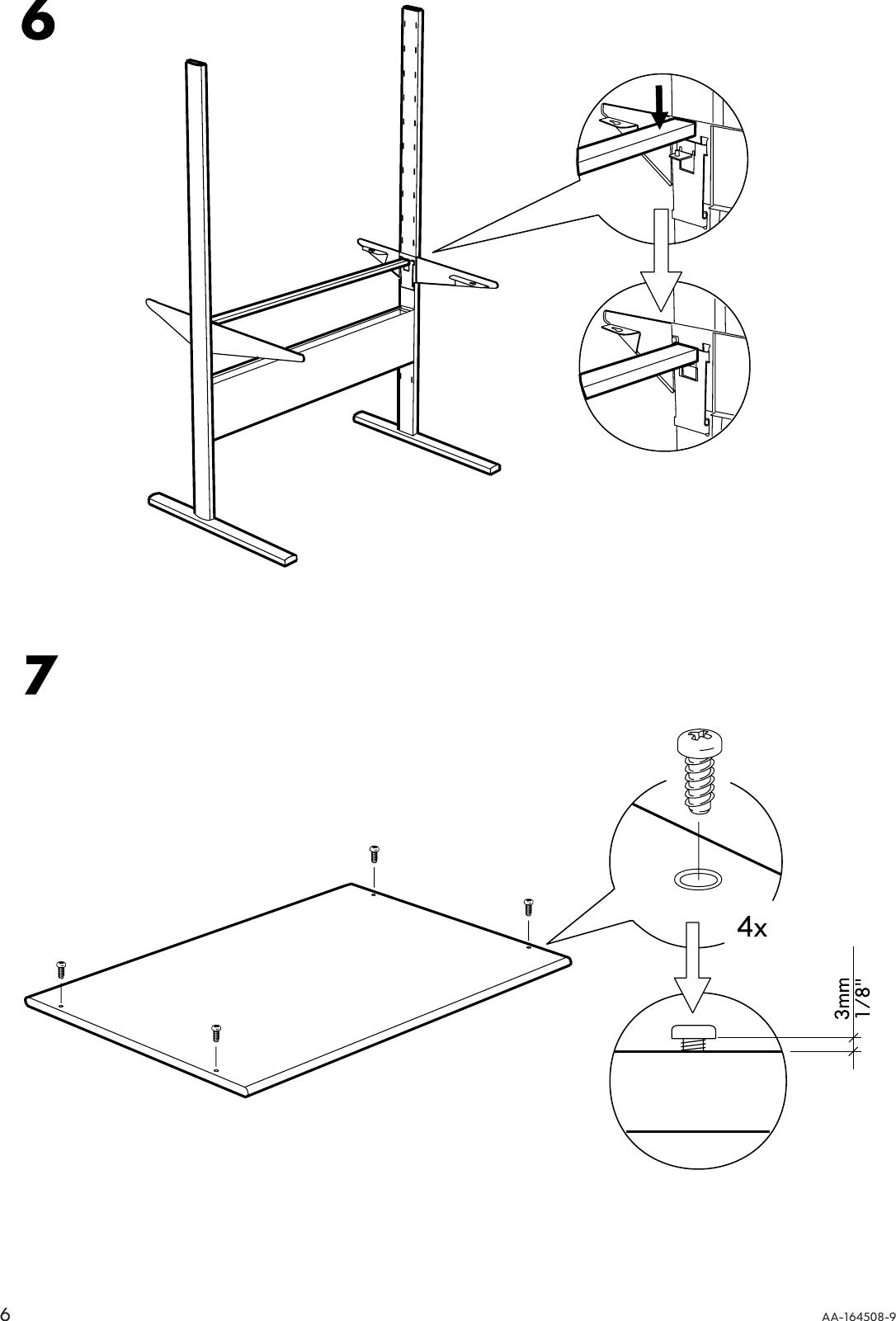Ikea Fredrik Computer Workstation 39X24 Assembly Instruction