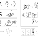 Ikea Galant Glass Table Top Assembly Instruction