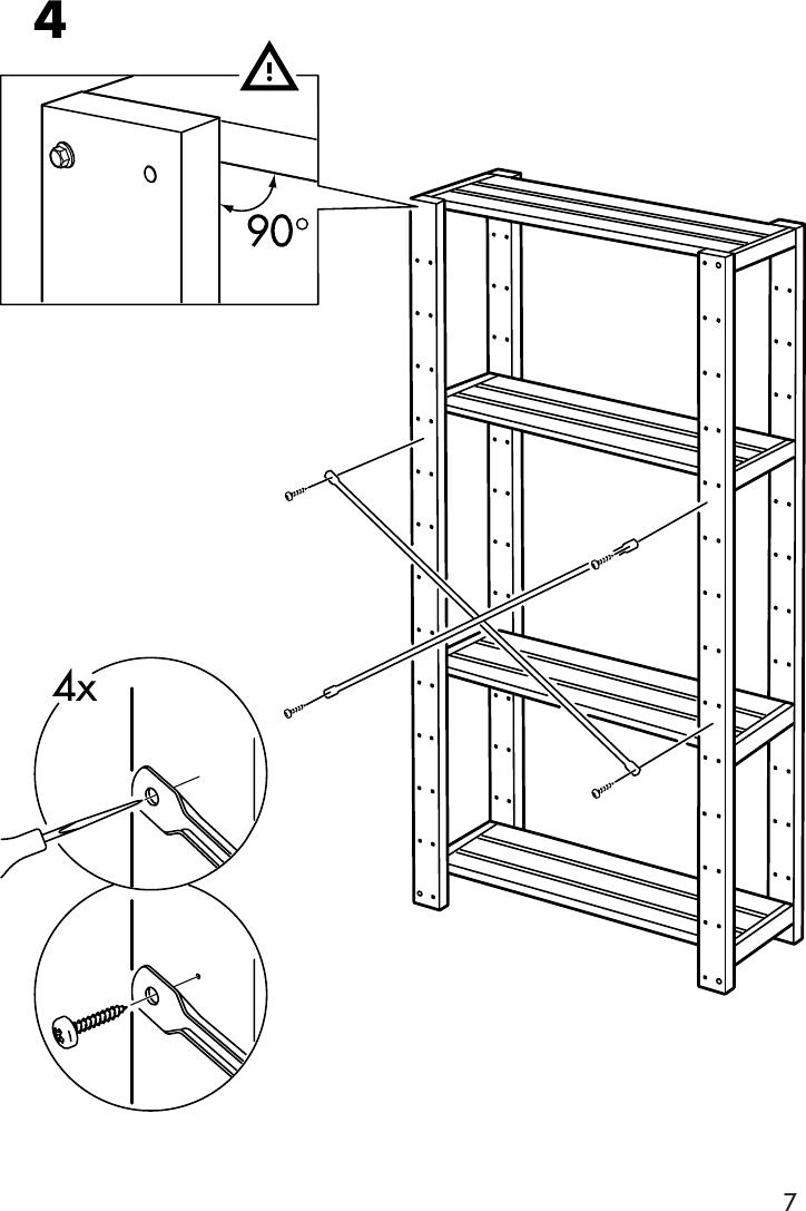 Ikea Gorm Shelf 30 3 8X20 1 8 Assembly Instruction