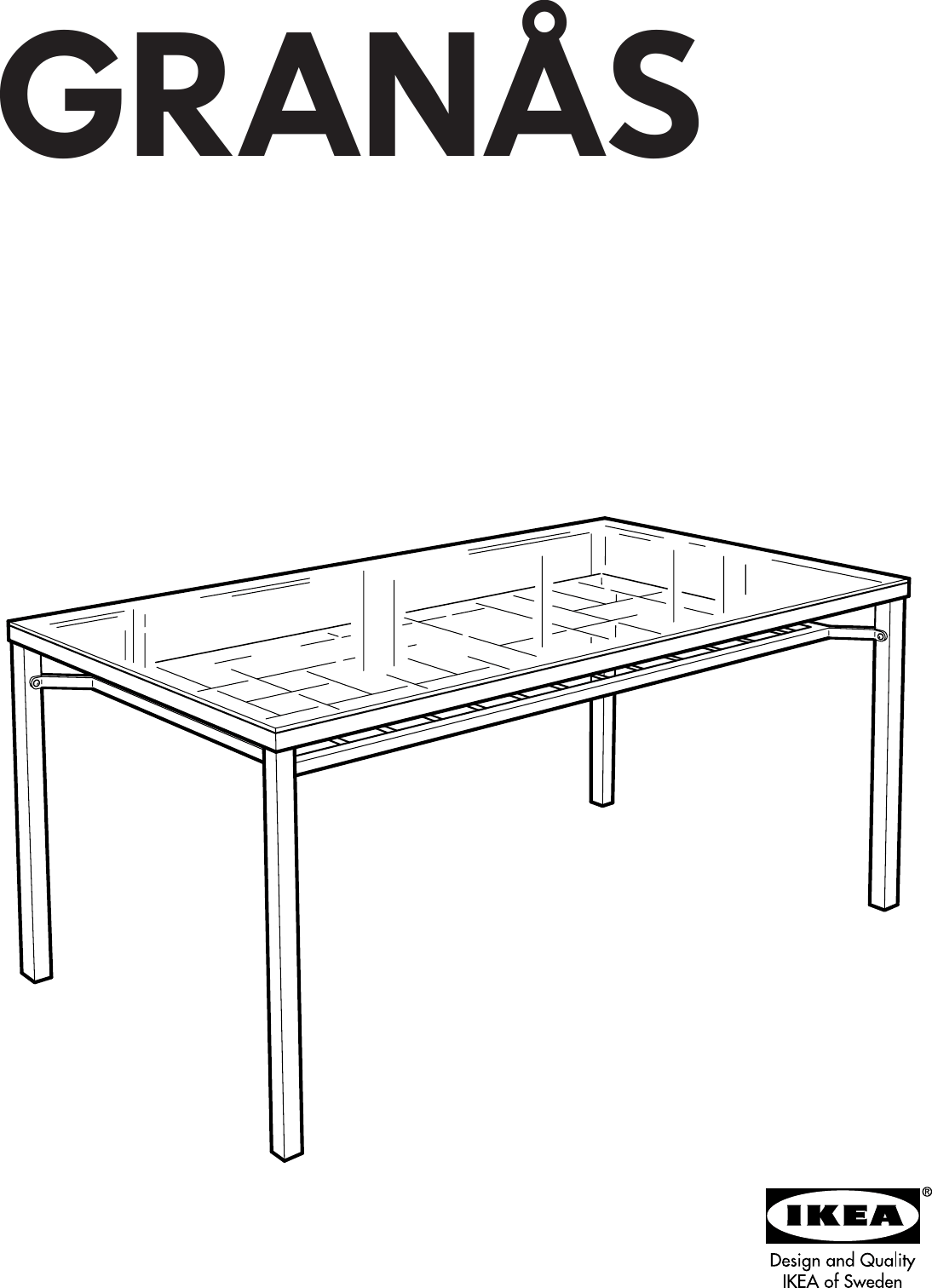 Ikea Granas Dining Table 59X31 Assembly Instruction
