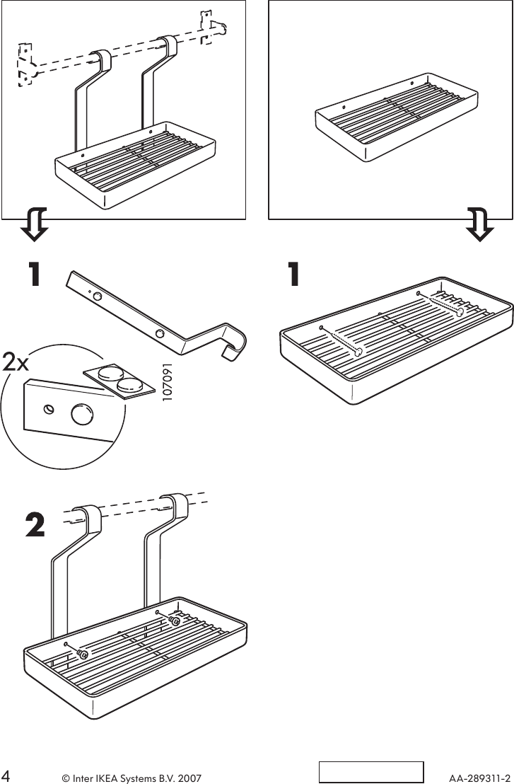 Ikea Grundtal Wall Shelf Assembly Instruction