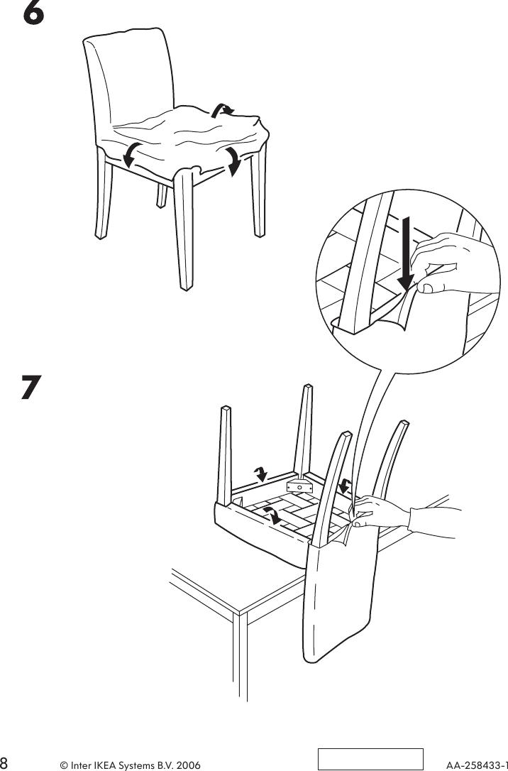 Ikea Henrik Chair Frame Assembly Instruction