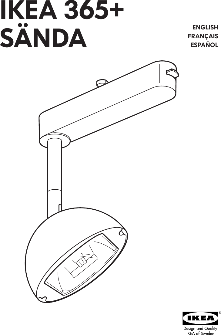 Ikea 365 Sanda Spotlight Assembly Instruction