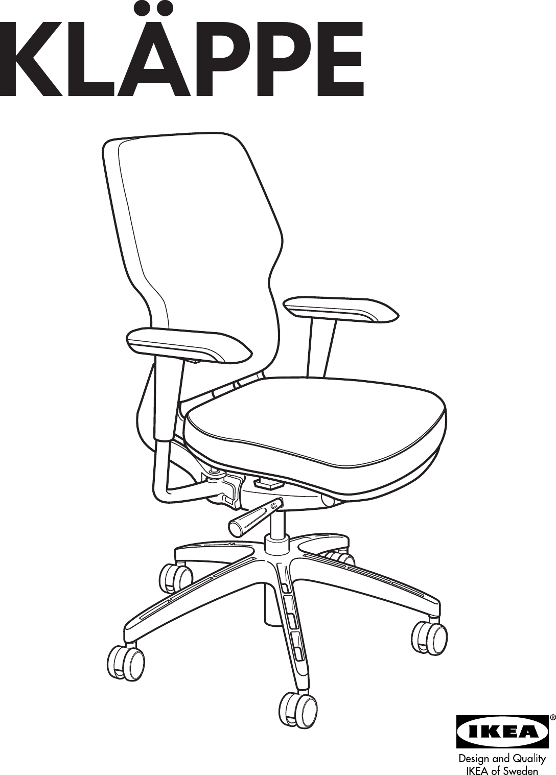Ikea Klappe Swivel Chair Assembly Instruction
