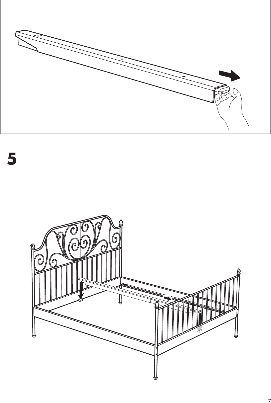 Ikea Leirvik Bed Frame Full Queen King Assembly Instruction