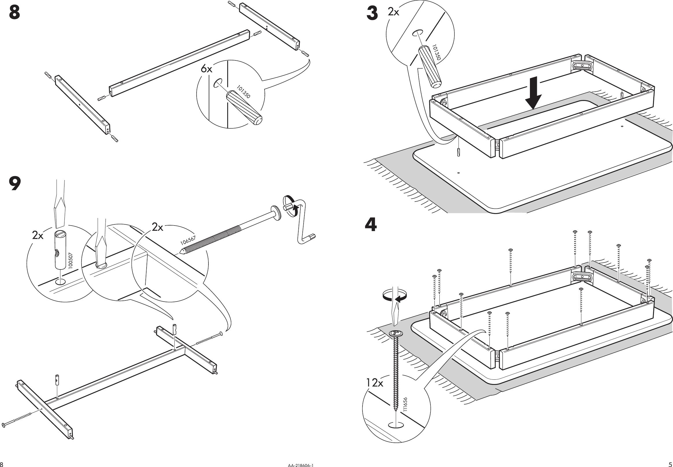 Ikea Leksvik Bar Table 43X28 Assembly Instruction