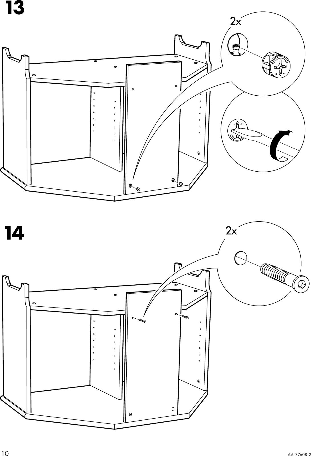 Ikea Leksvik Corner Tv Bench 39X24 Assembly Instruction