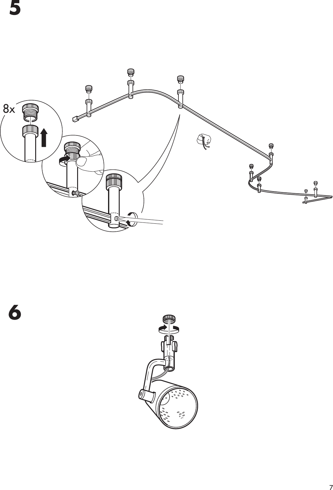Ikea Magnesium Spotlight System Assembly Instruction