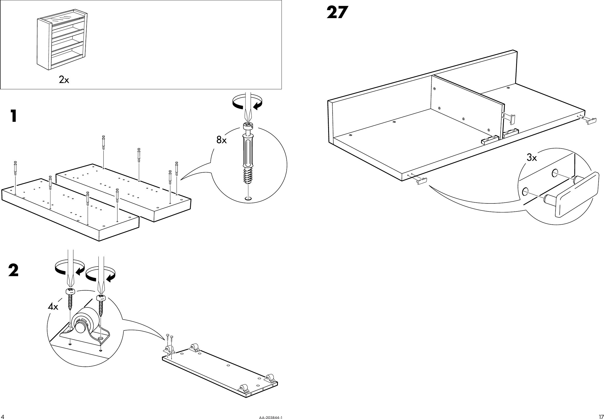 Ikea Malm 3 Piece Headboard Bed Shelf Set Queen Assembly