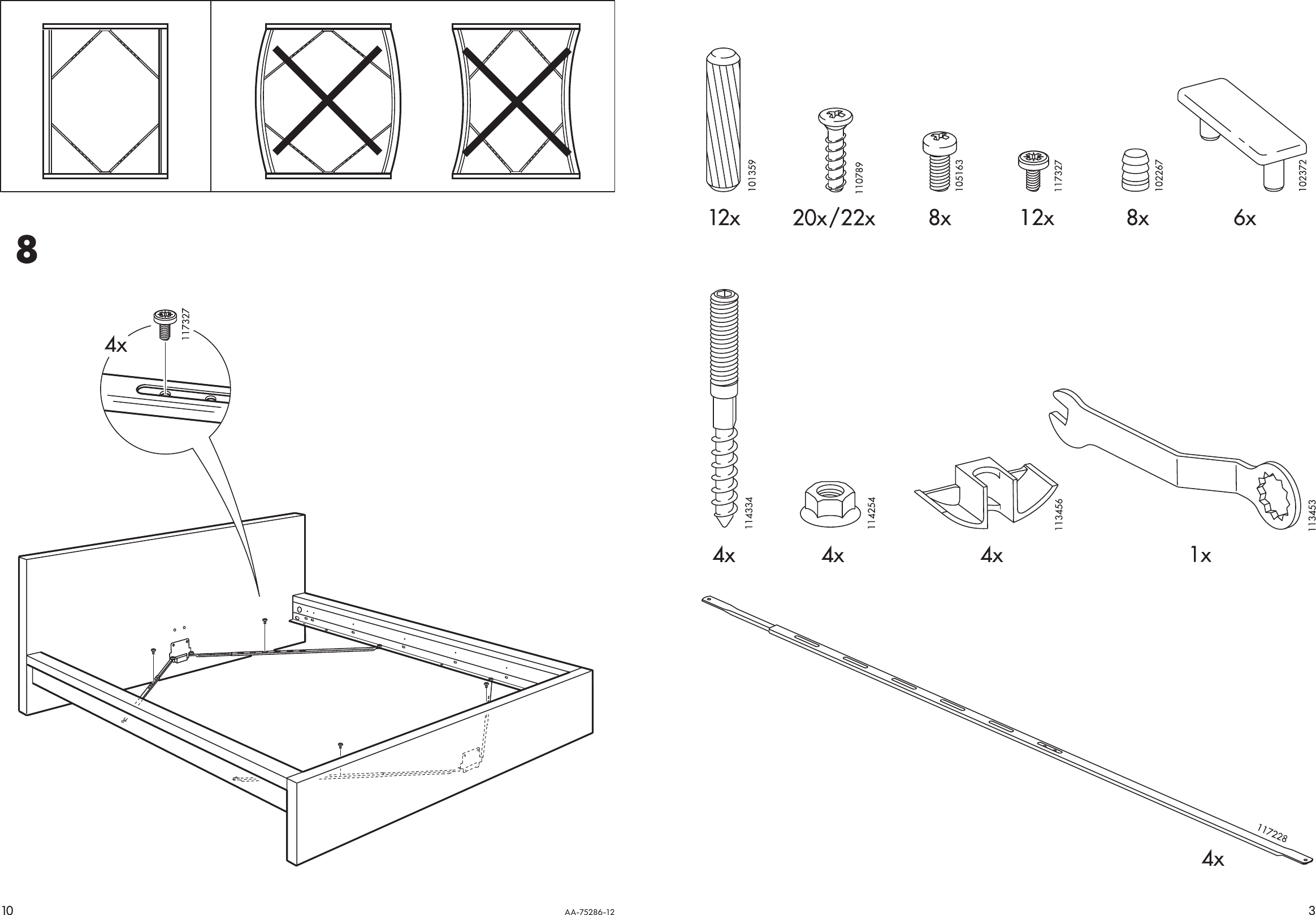 Ikea Malm Bed Frame Queen Assembly Instruction
