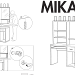Ikea Mikael Computer Workstation 41x20 Assembly Instruction 2
