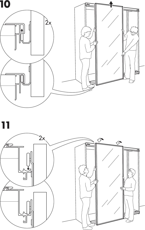 Ikea Pax Ardal Sliding Door 59X93 Assembly Instruction
