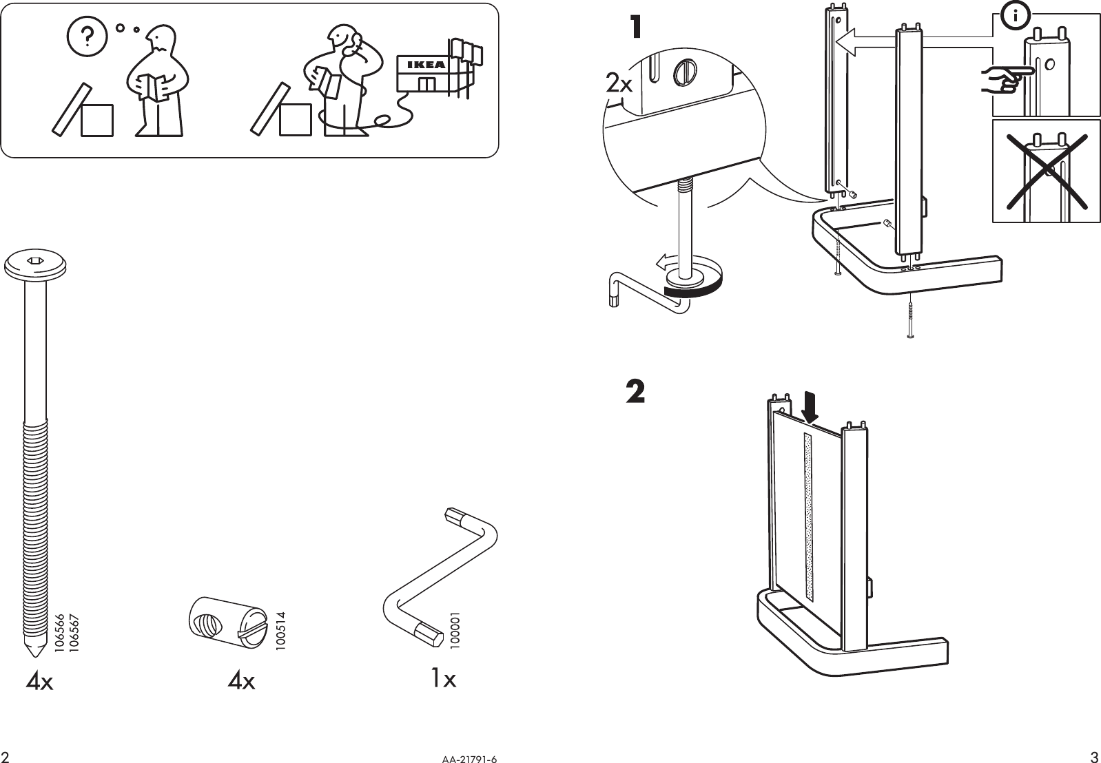 Ikea Poang Footstool Frame Assembly Instruction