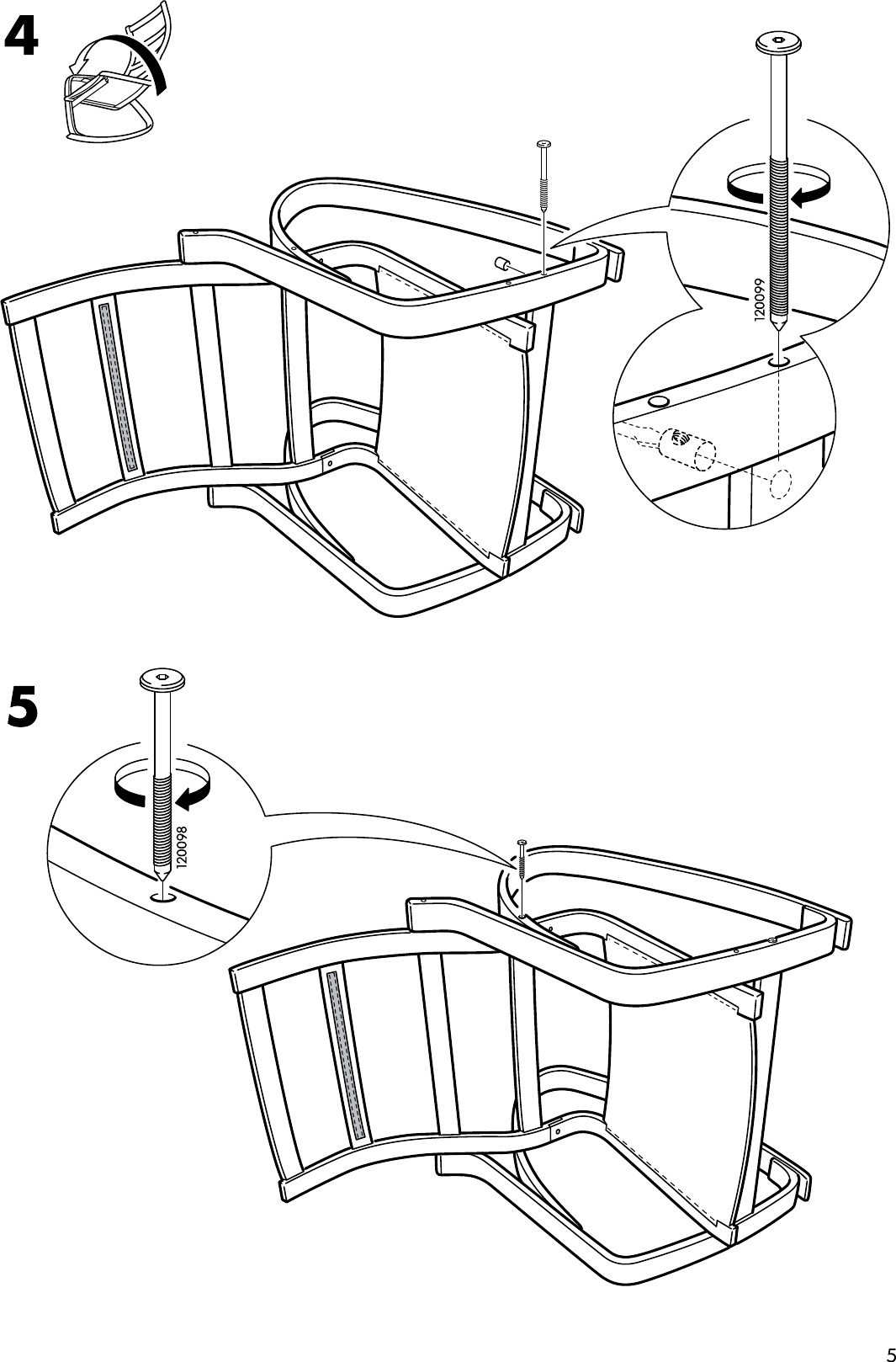 Ikea Poang Rocking Chair Frame Assembly Instruction