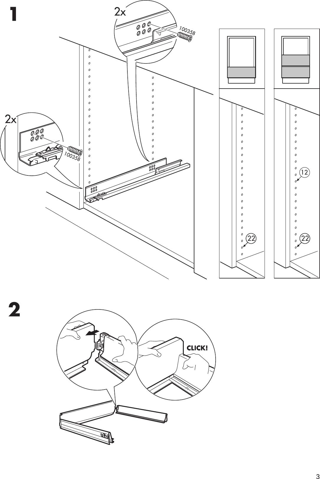 Ikea Faktum Drawer Instructions
