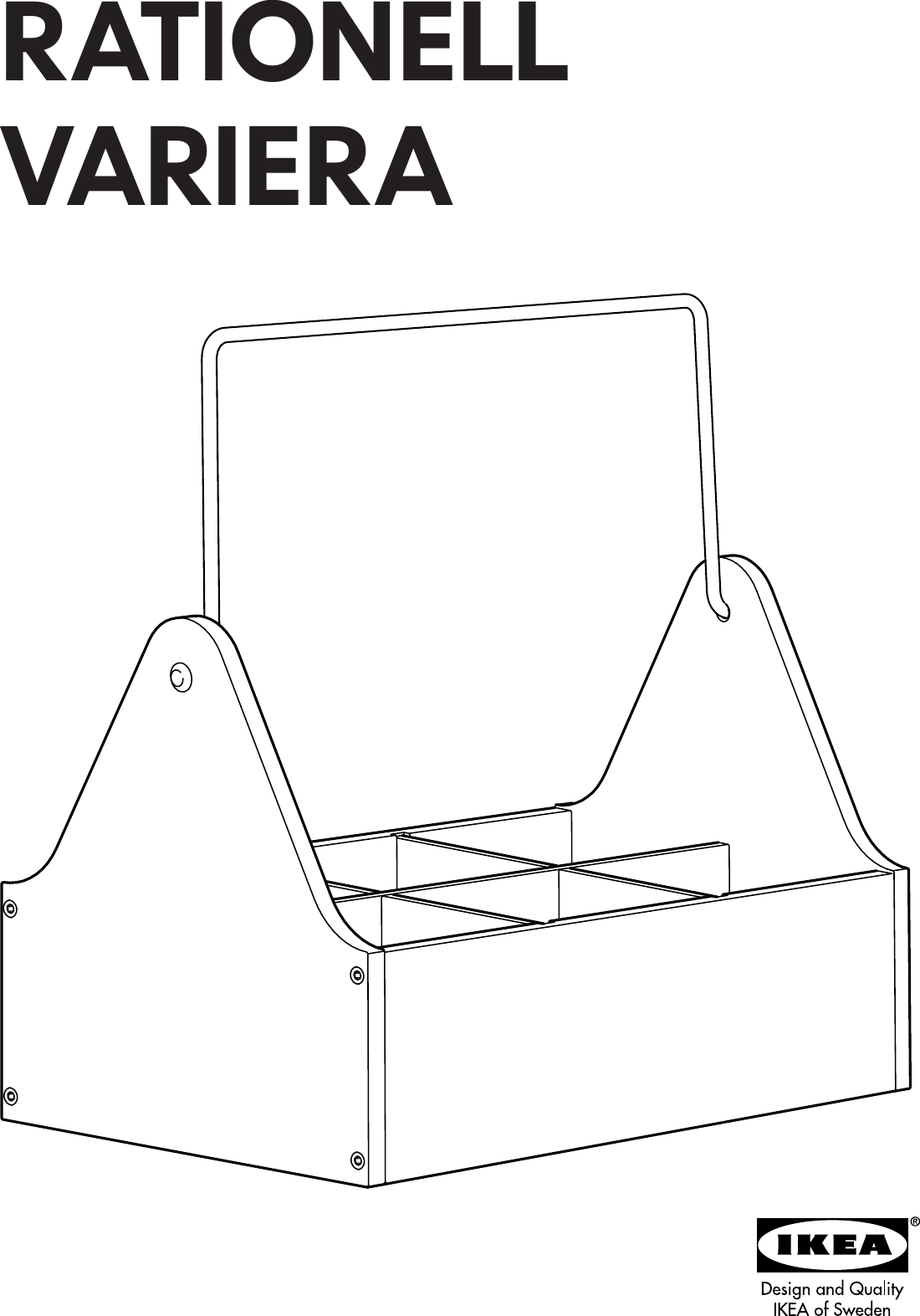 Ikea Rationell Variera Box Handle Assembly Instruction