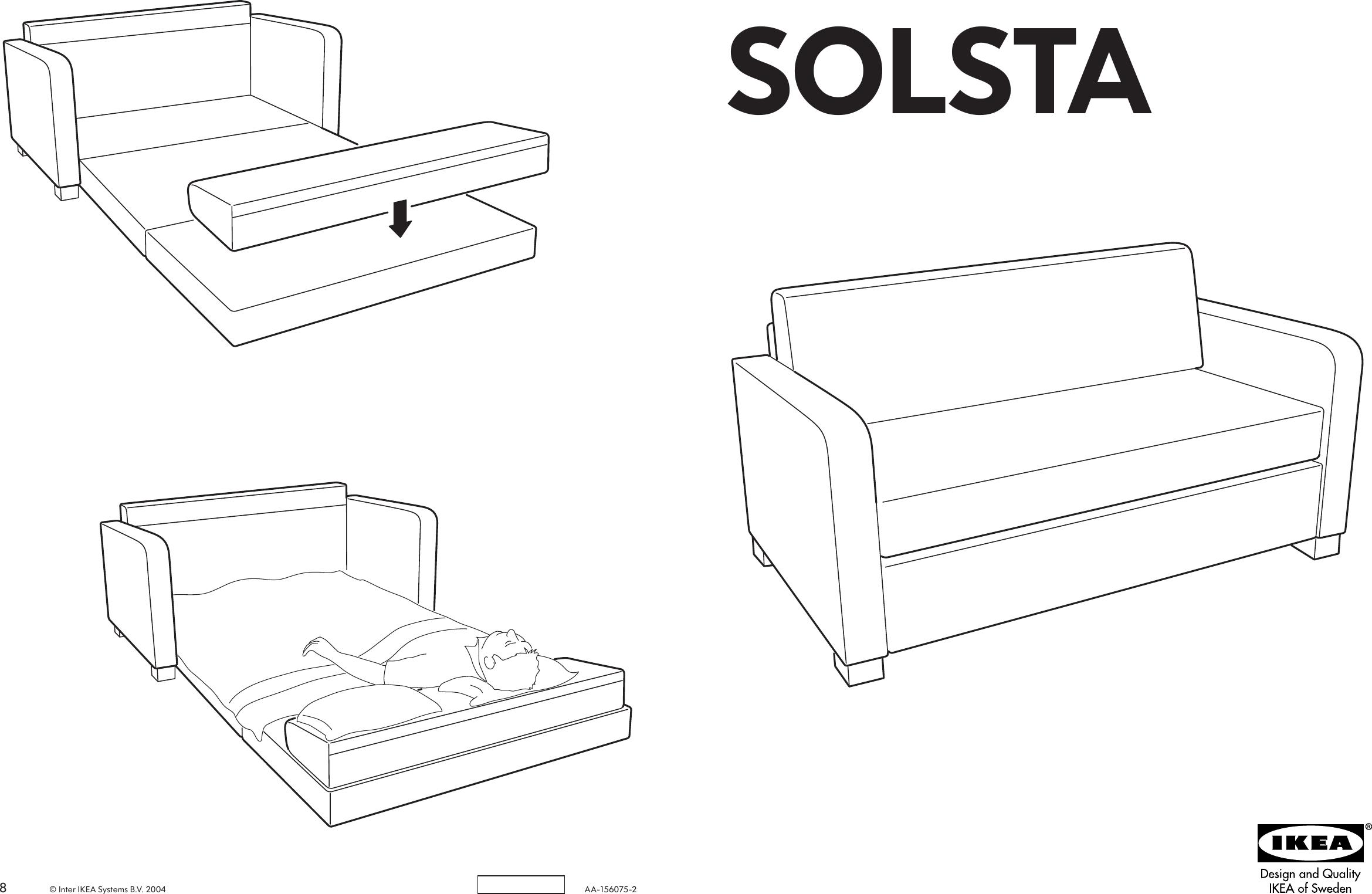 Ikea Solsta Sofa Bed Assembly Instruction
