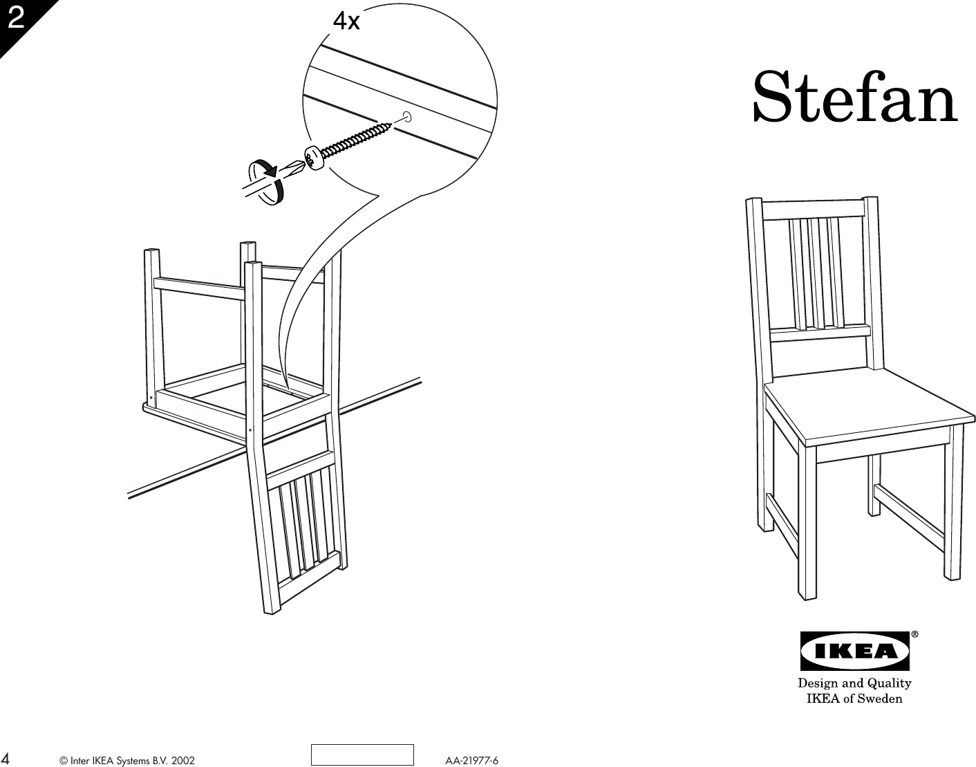 Ikea Stefan Chair Assembly Instruction