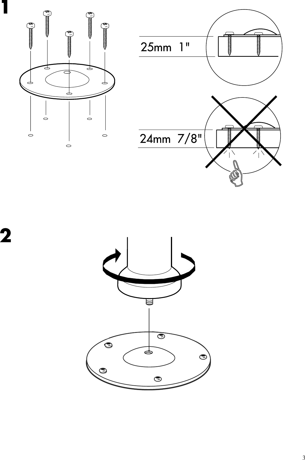 Ikea Vika Kaj Adjustable Leg Assembly Instruction