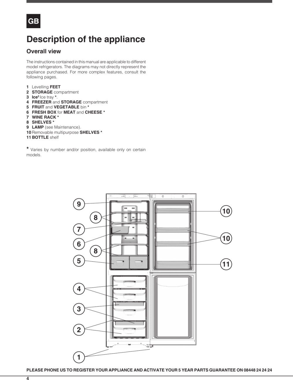 medium resolution of page 4 of 12 indesit indesit dbiaa344f uk operating instructions