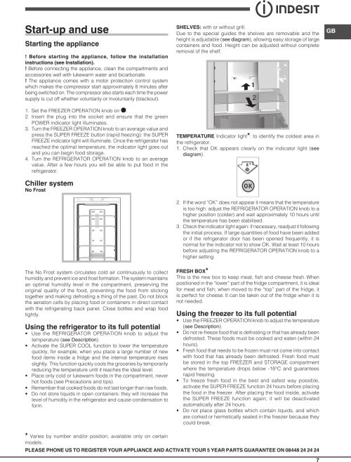 small resolution of page 7 of 12 indesit indesit dbiaa344f uk operating instructions