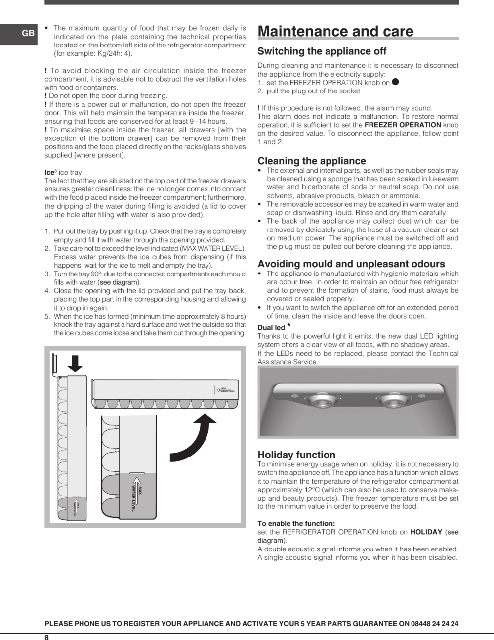 medium resolution of page 8 of 12 indesit indesit dbiaa344f uk operating instructions
