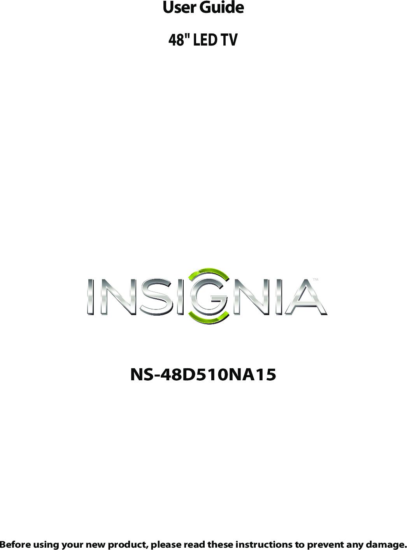 Insignia NS 48D510NA15 48D510NA15_14 0616_MAN_V2_ENG User
