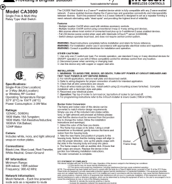 intermatic ca3000 single pole multi way relay type wall switch user manual ca3000 [ 1228 x 1528 Pixel ]