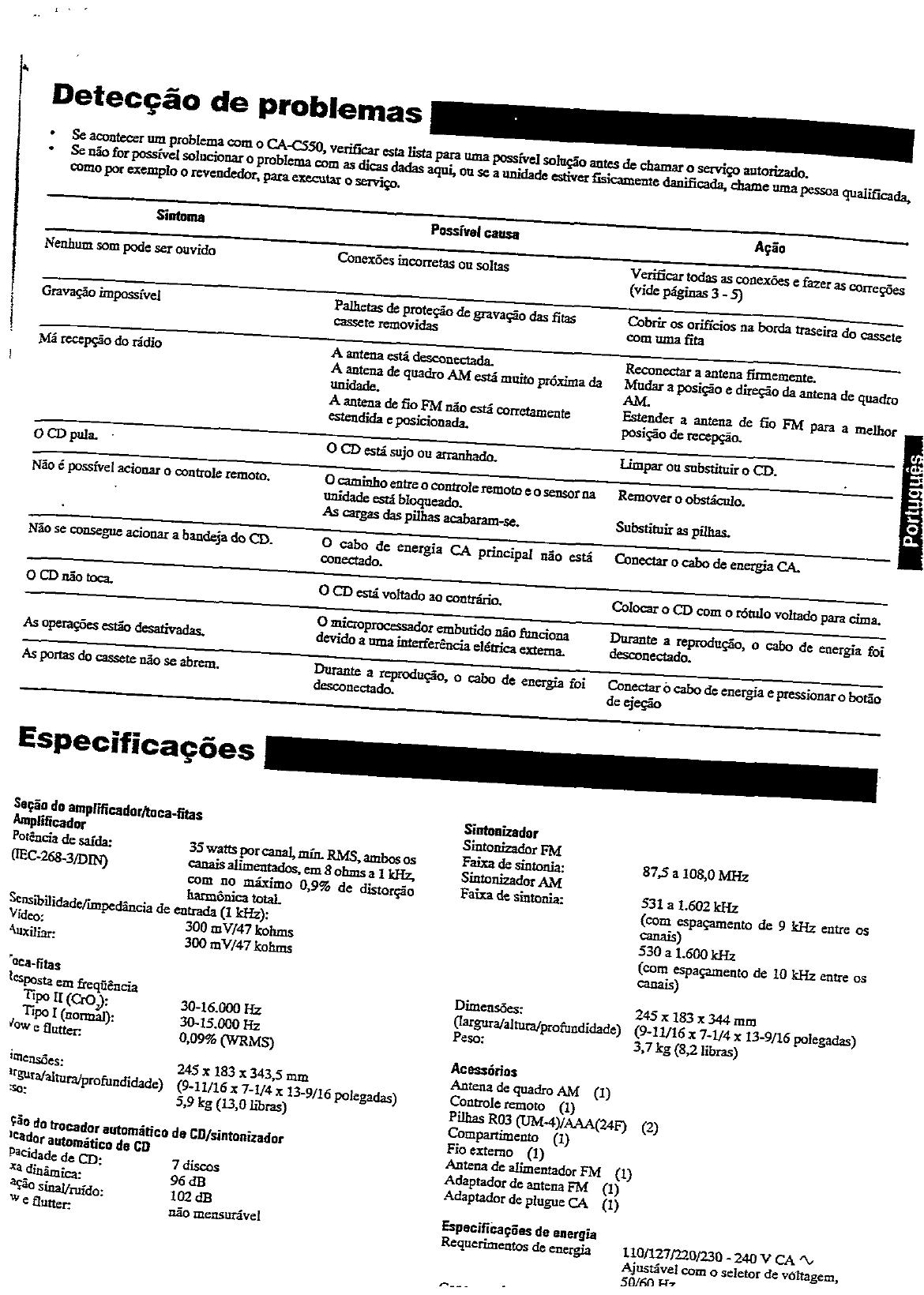 JVC CA C550 User Manual INST