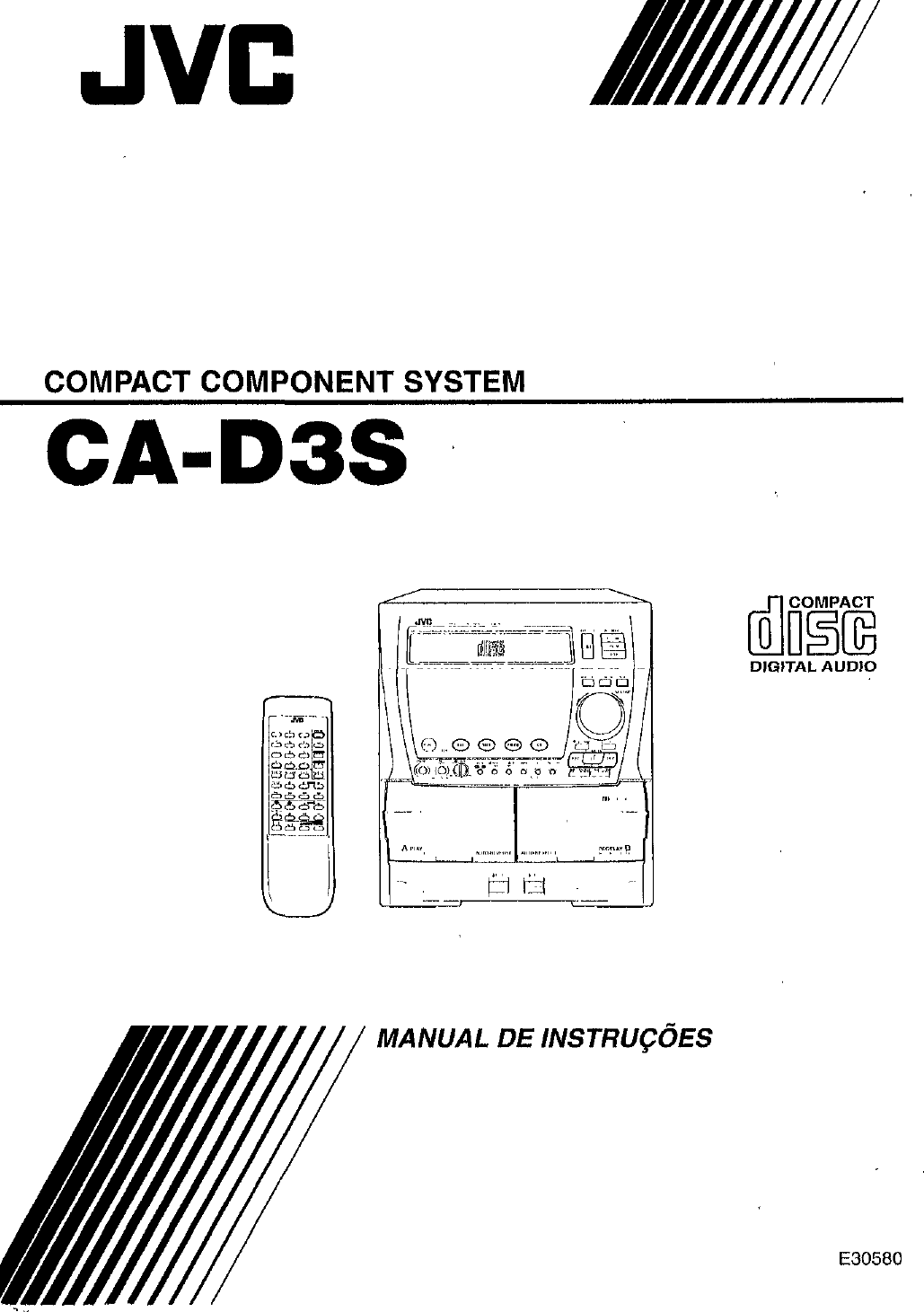 JVC CA D3S User Manual E30580