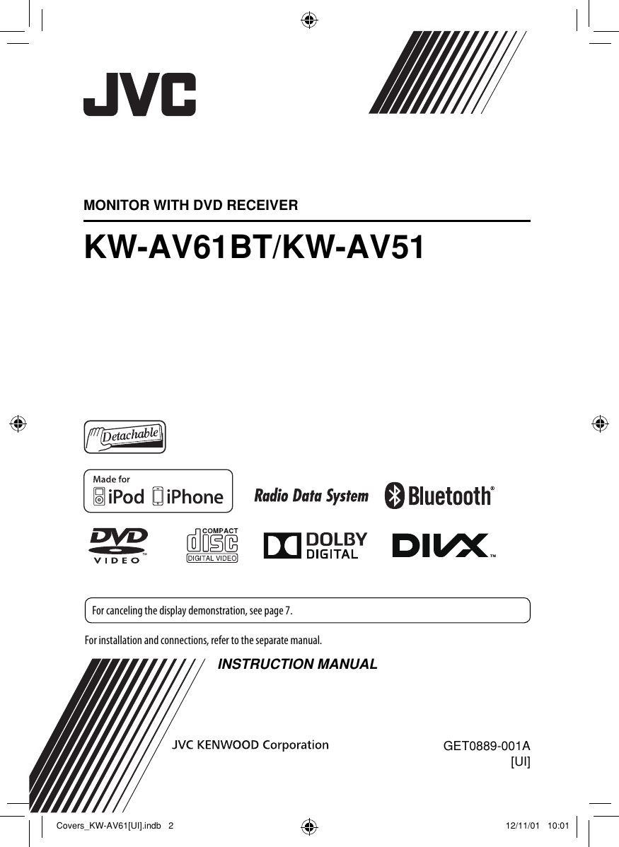 hight resolution of jvc kw av51ui av61bt kw av51 ui user manual av51ui av61btui get0889 001a