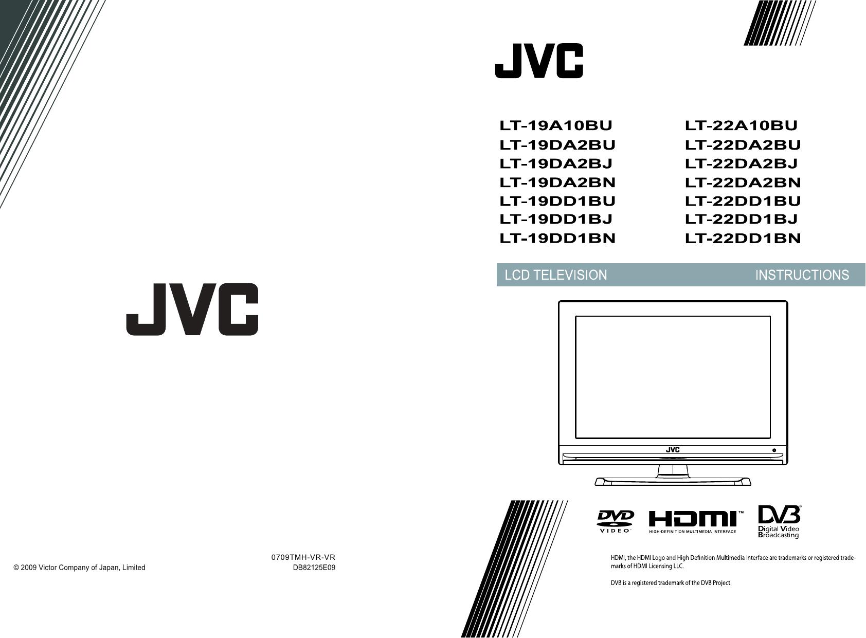 JVC LT 19DA2BJ 19A10BU, 22A10BU, 19DA2BU, 22DA2BU, 19DA2BJ