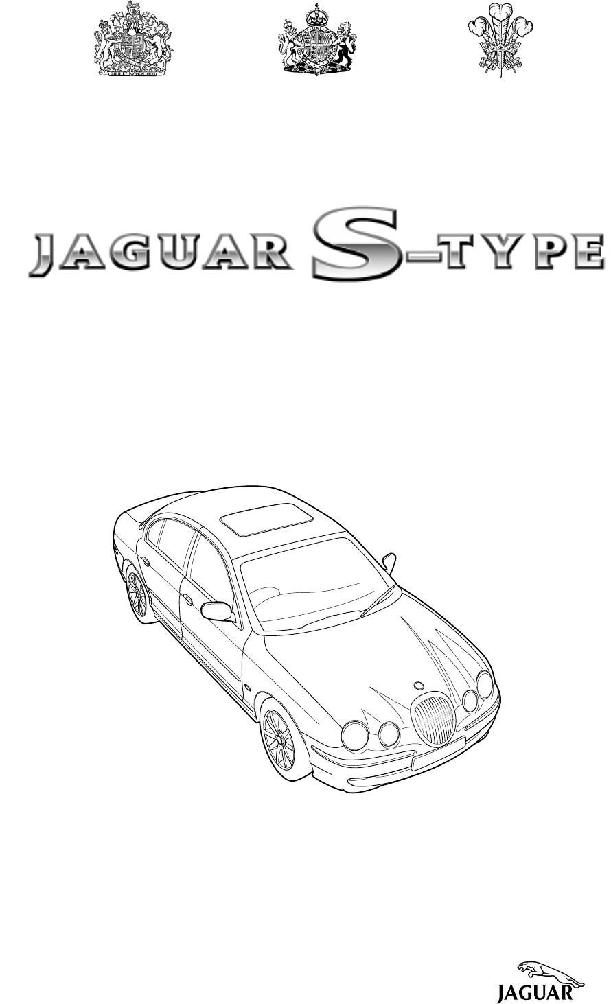 Jaguar S Type 2002 Users Manual