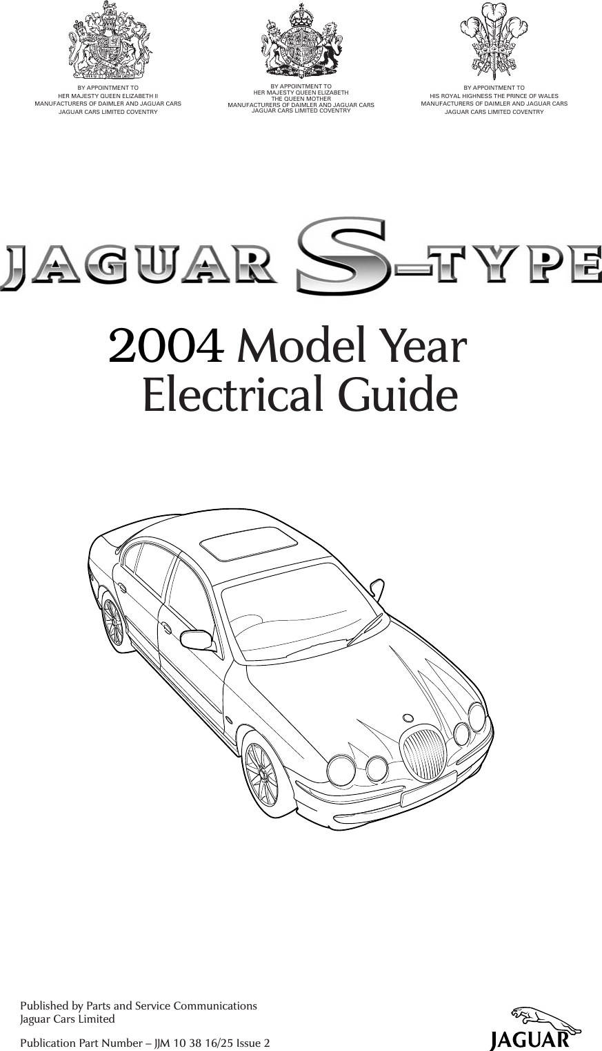 Jaguar S Type 2004 Users Manual X202 02.5/E COVER