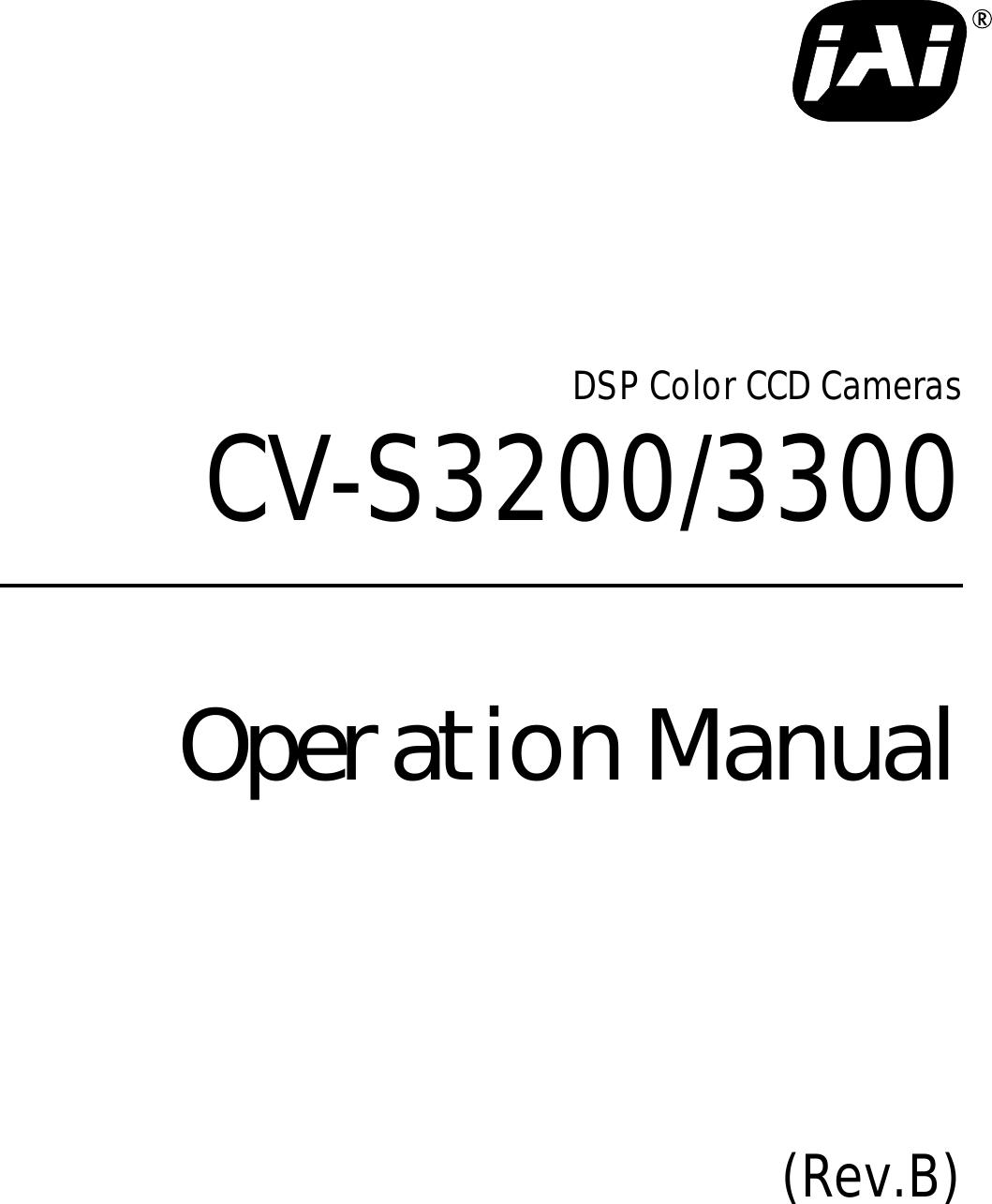 Jai Cv S3200 Users Manual