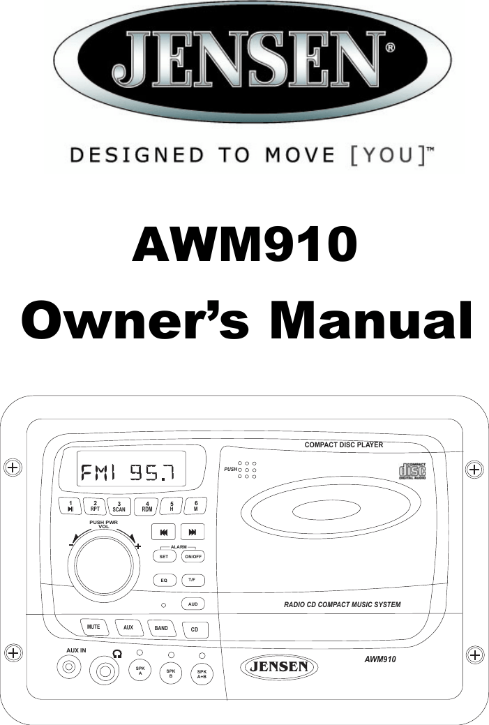 Jensen Awm910 Users Manual B