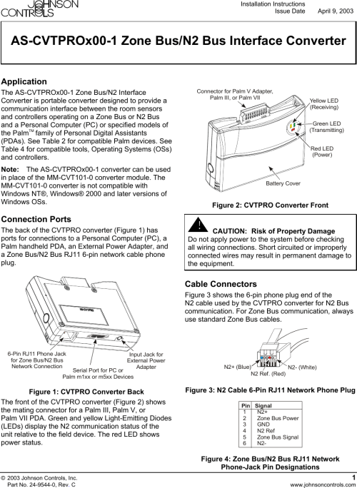 small resolution of  johnson controls as cvtprox00 1 users manual 0 zone bus n2 bus