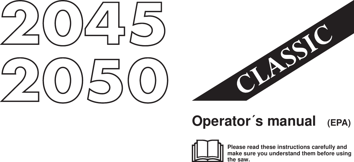 Jonsered 2045 Operators Manual OM, 2041, 2045, 2050, 1999 01