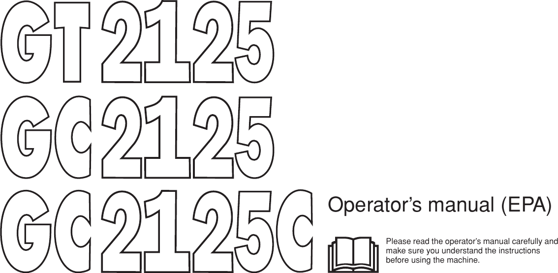 Jonsered Gc 2125 Operators Manual OM, GT2135, GC2125