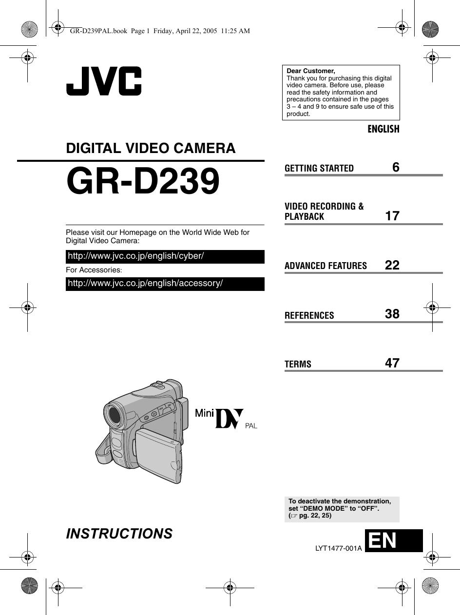 Jvc Gr D239 Users Manual D239E