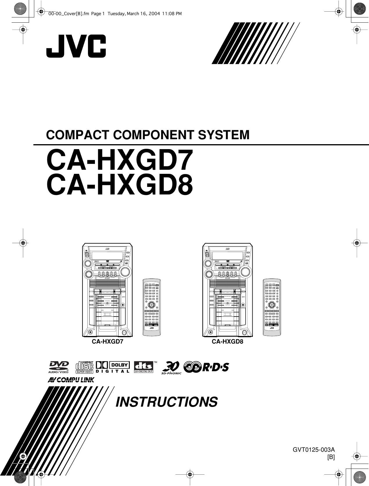 Jvc Gvt0125 003A Users Manual CA HXGD7/GD8