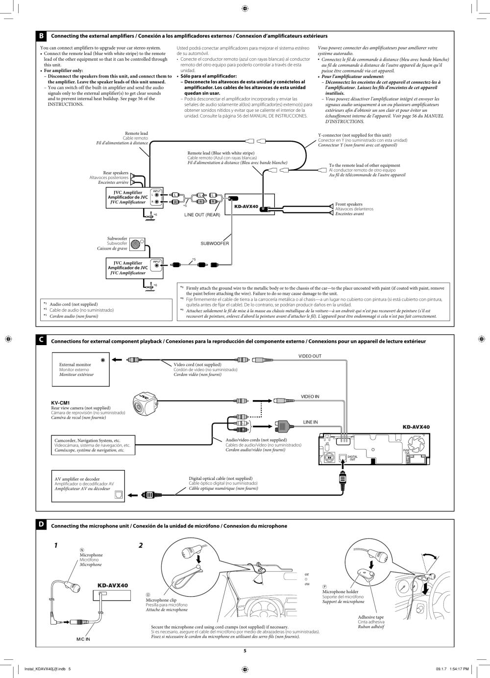 medium resolution of page 5 of 6 jvc jvc kd avx40 installation manual
