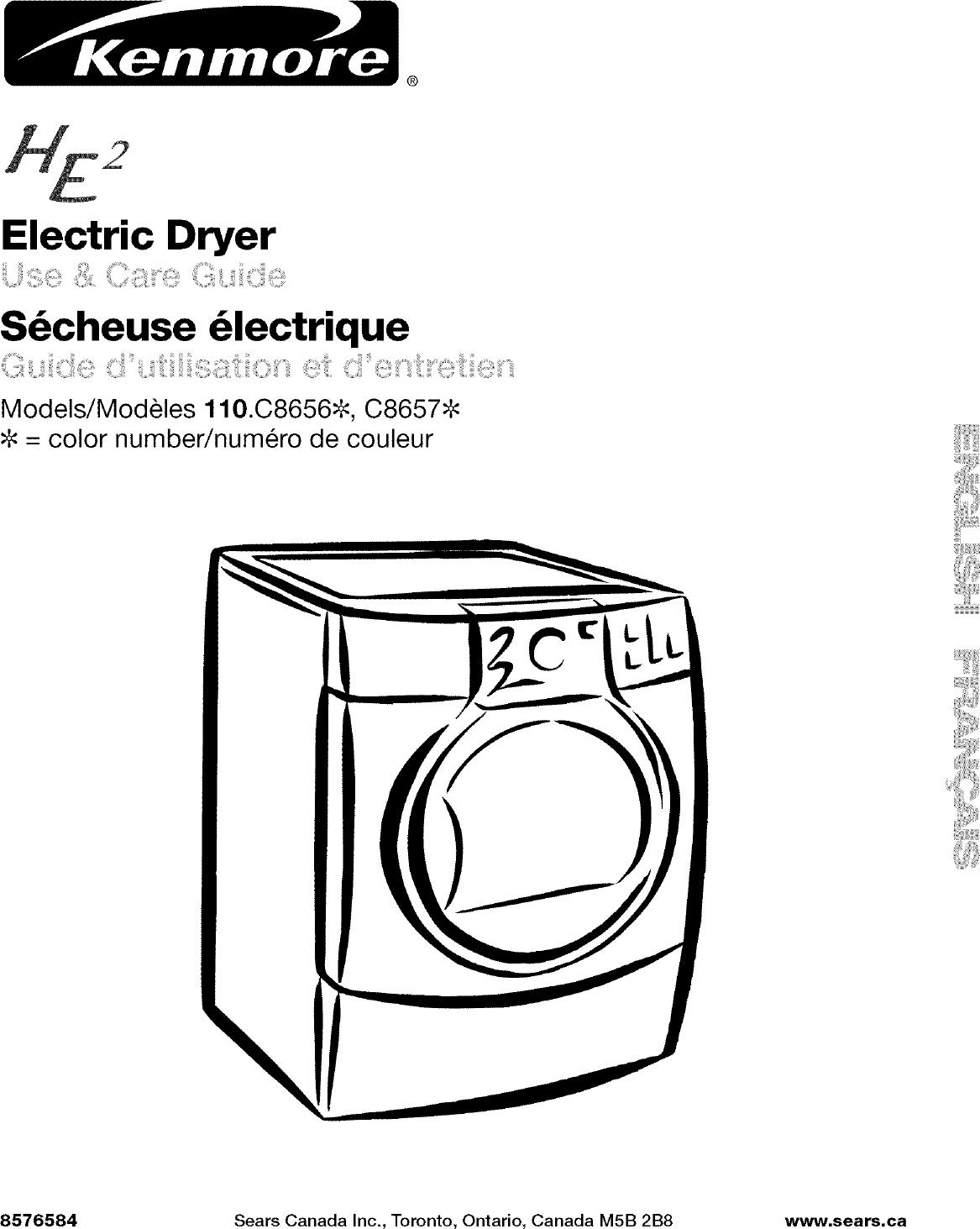 KENMORE Residential Dryer Manual L0512073