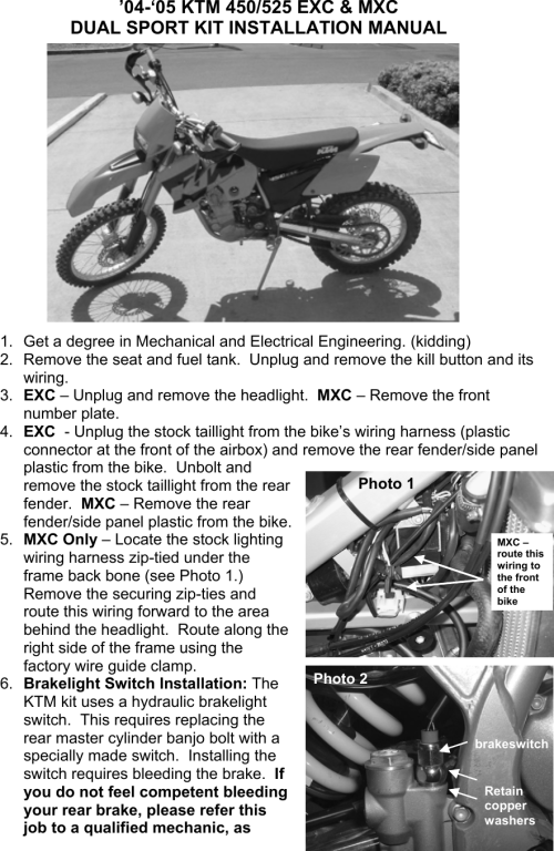 small resolution of ktm dual sport kit installation manual 04 450 525 exc user to the 64e55f66 ff78 40ba 8caf 111fc89670b0