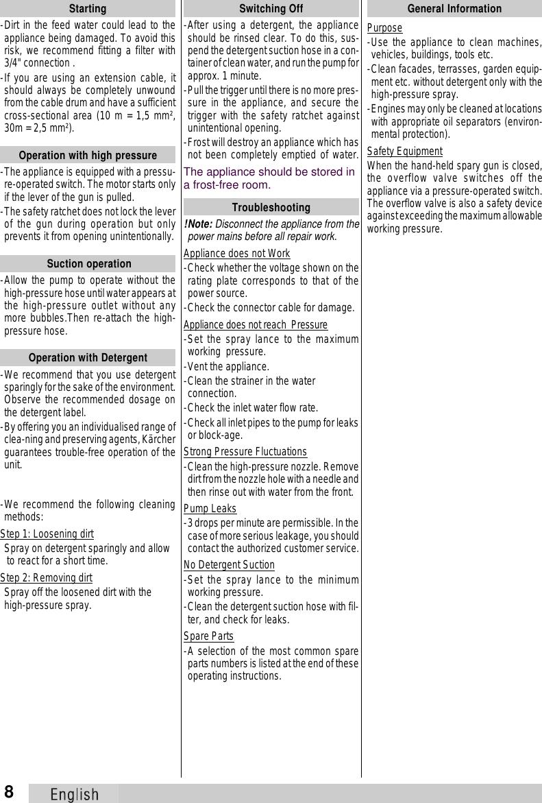 Karcher 670M Users Manual 5959 533cdn